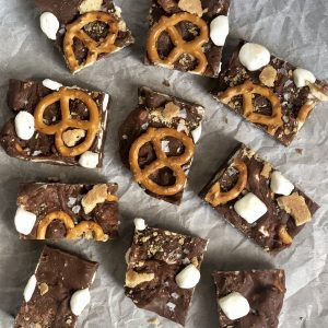 Pretzel S'mores Fudge Bars