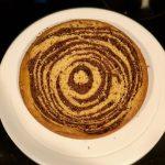 Chocolate Peanut Butter Swirl Cake with Salted Vanilla Buttercream