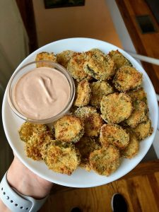 Air Fryer Fried Pickles with Tangy Dipping Sauce