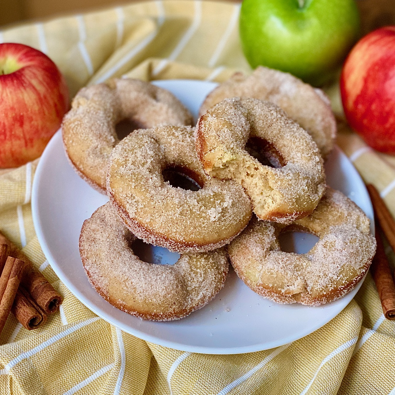 healthier apple cider donuts