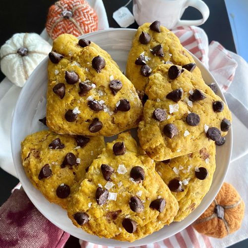 lighter pumpkin chocolate scones
