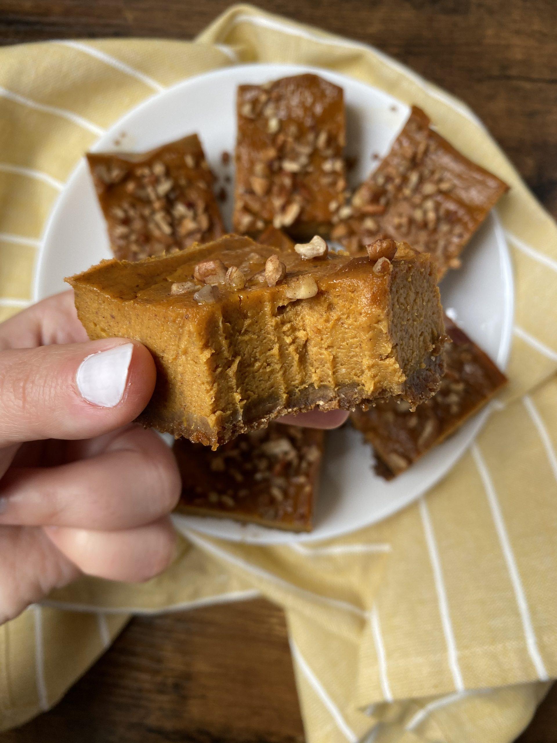 pumpkin gingersnap bars