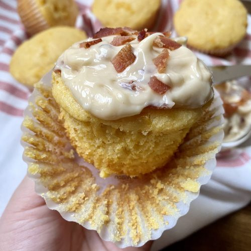 corn muffins with maple bacon butter