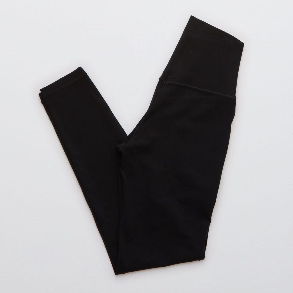 The Aerie Offline Real Me High Waisted Pocket Legging in black.