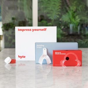 An impression kit for Byte Invisible Aligners.