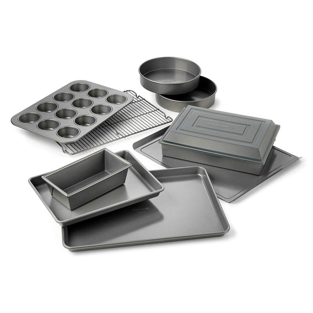 A Calphalon® Nonstick 10-Piece Bakeware Set.