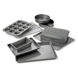 A Calphalon® Nonstick 10-Piece Bakeware Set.