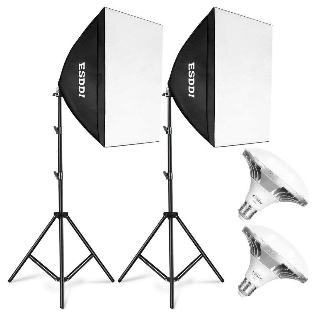 An Esddi Softbox Studio Lighting Kit.