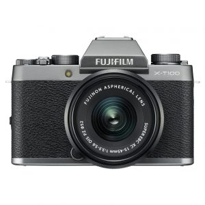 A Fujifilm X-T100 Mirrorless Digital Camera.