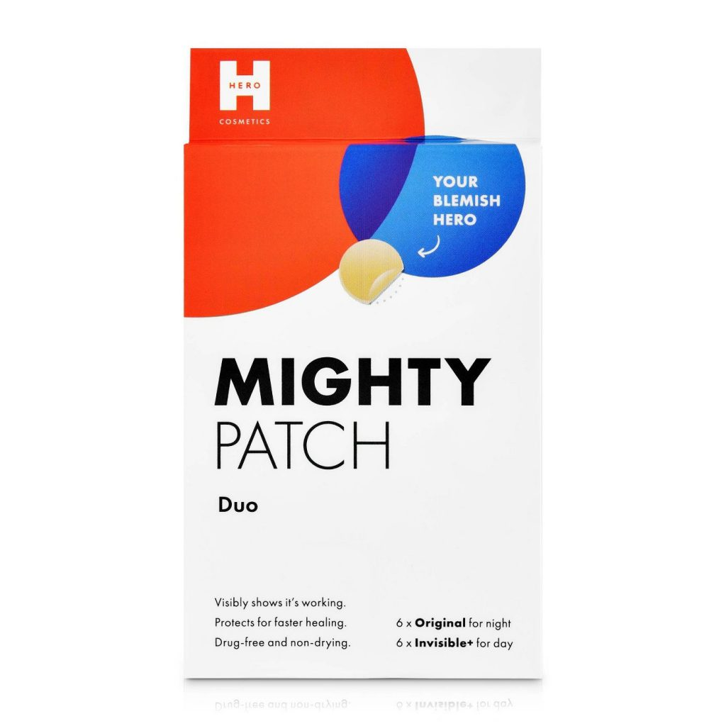 A box of Hero Cosmetics Mighty Acne Patch Duo.