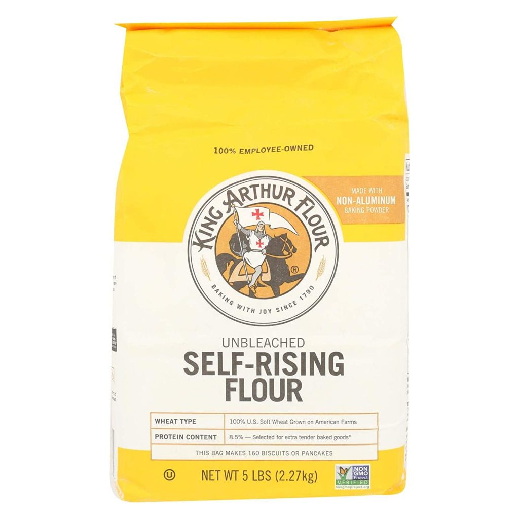 A 5 Pound Bag of King Arthur Flour Self Rising Flour.