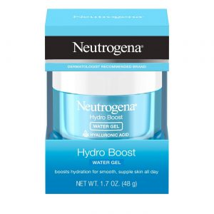A jar of Neutrogena Hydro Boost Hydrating Water Gel Face Moisturizer with Hyaluronic Acid.