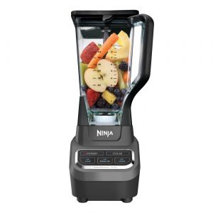 A black Ninja Professional Blender 1000W.