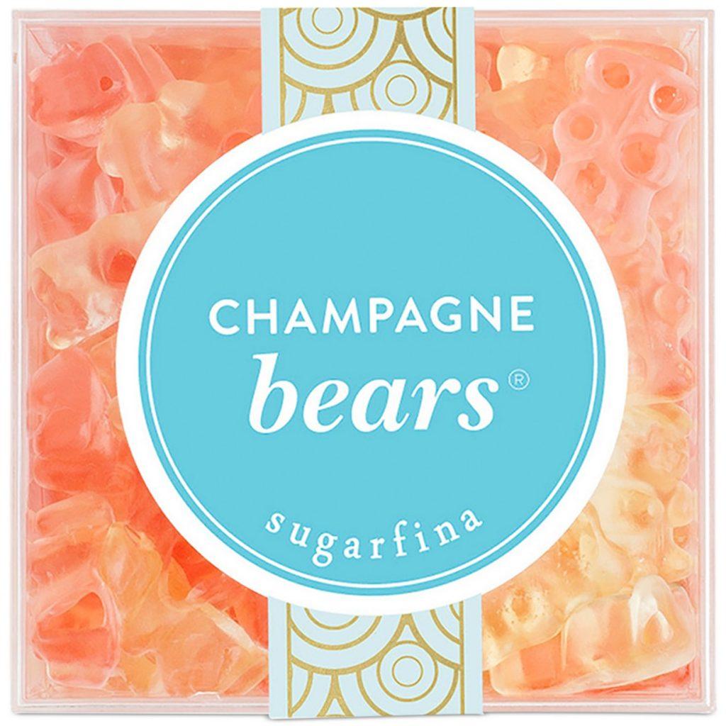 A box of Sugarfina Champagne Bears.