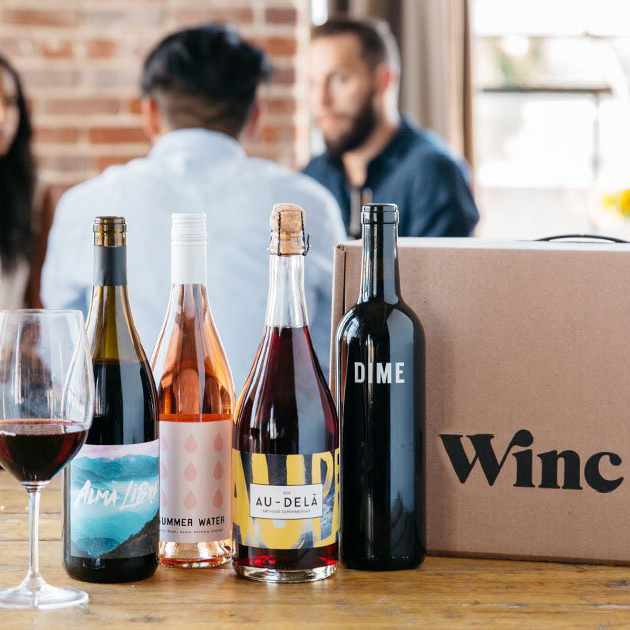 A collection of wines from Winc.