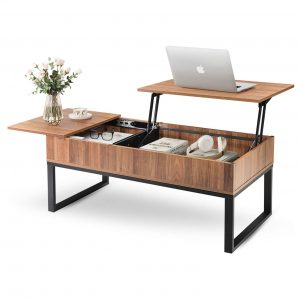A Wlive Lift Top Coffee Table in wood and metal.