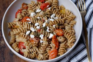 goat cheese pesto pasta