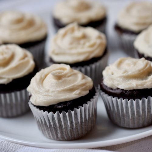mini baileys chocolate cupcakes
