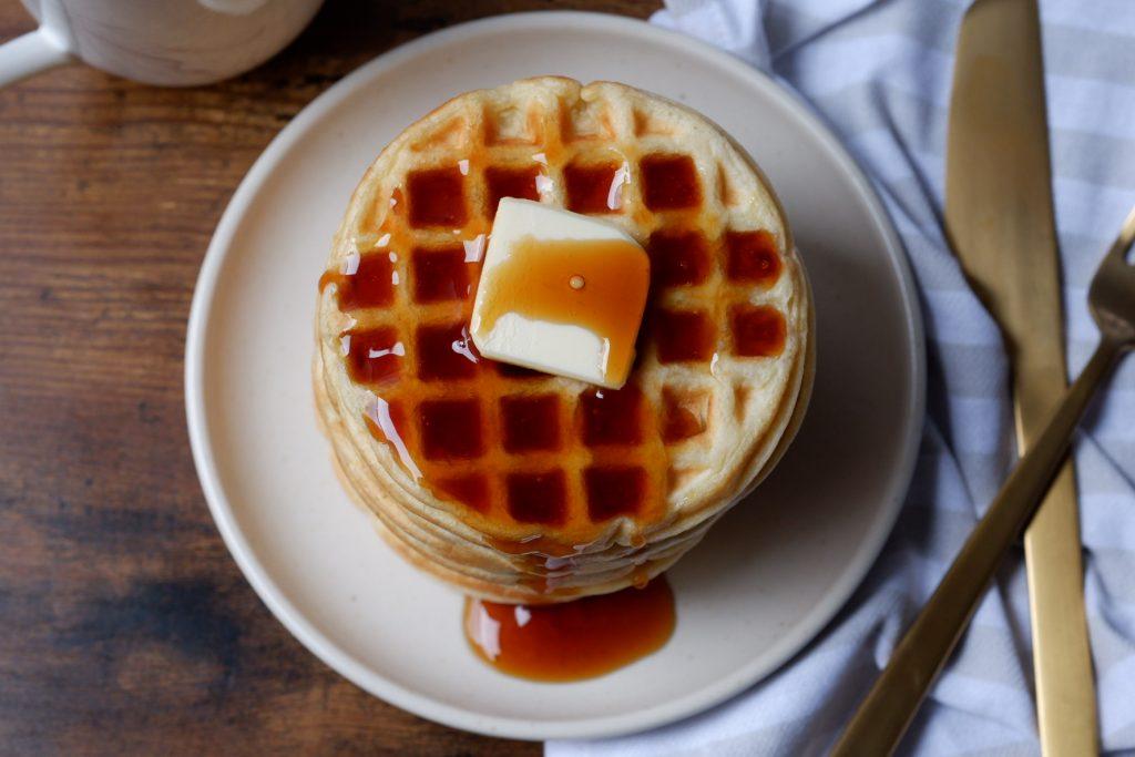lightened up waffles