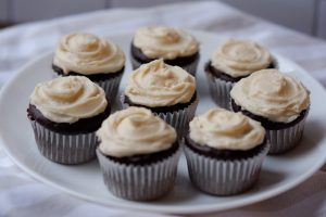 mini baileys chocolate cupcakes