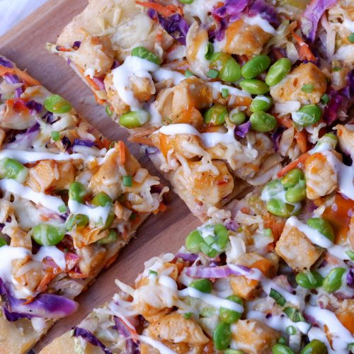 sweet chili chicken flatbread