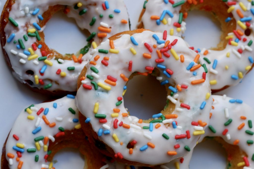 healthy birthday cake donuts