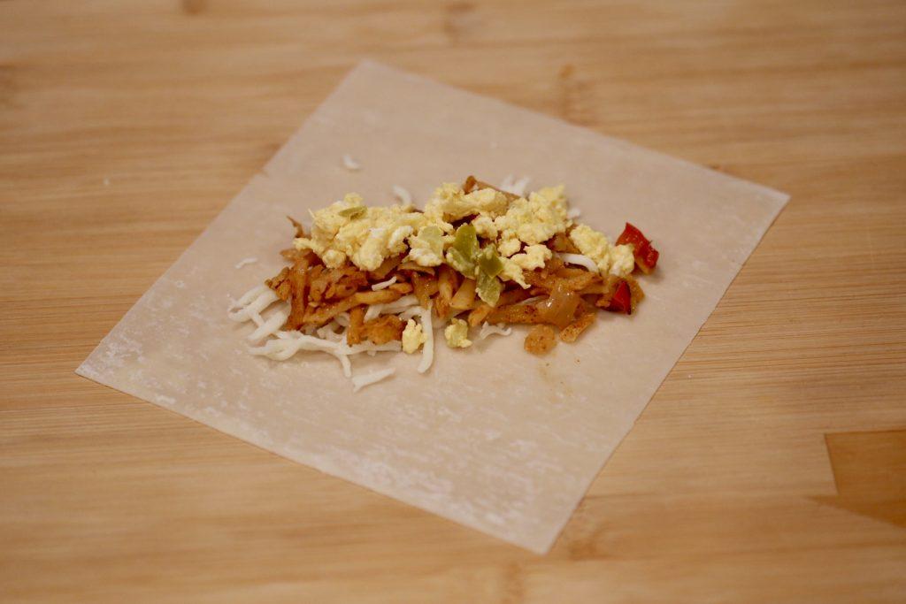 southwest breakfast egg rolls