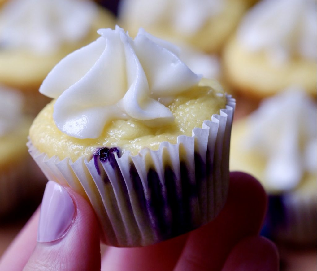 Light Lemon Blueberry Cupcakes