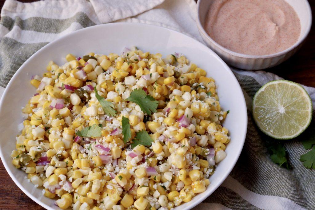 light mexican street corn
