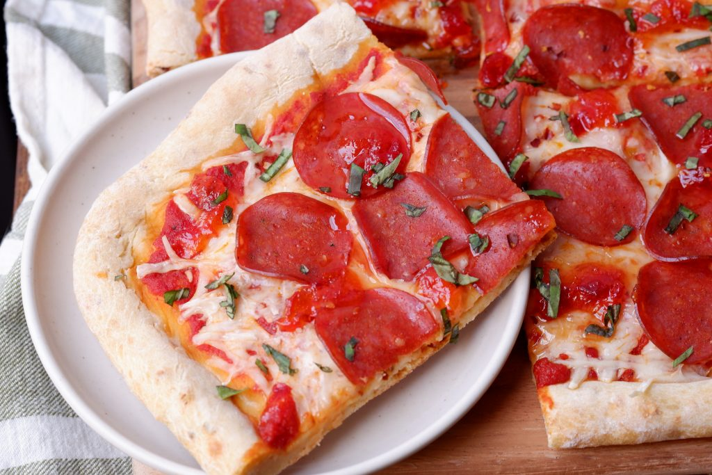 sweet and spicy pepperoni pizza