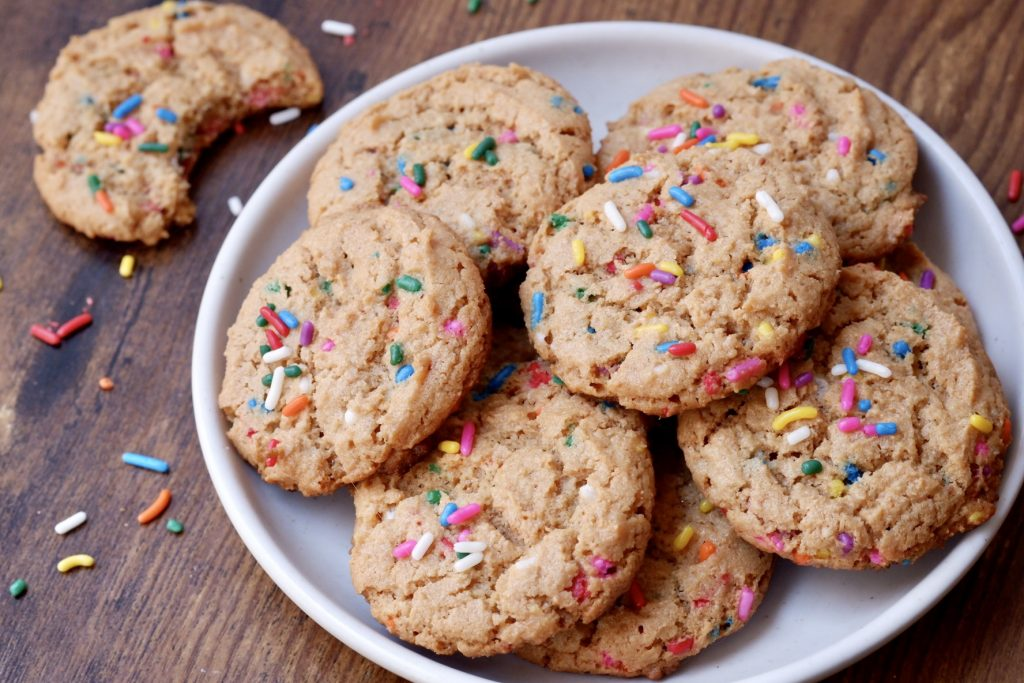 gluten free birthday cake cookies