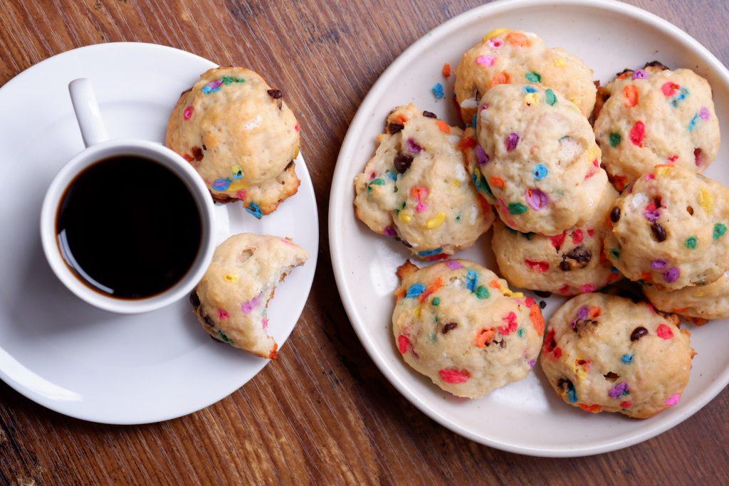 mini birthday cake scones
