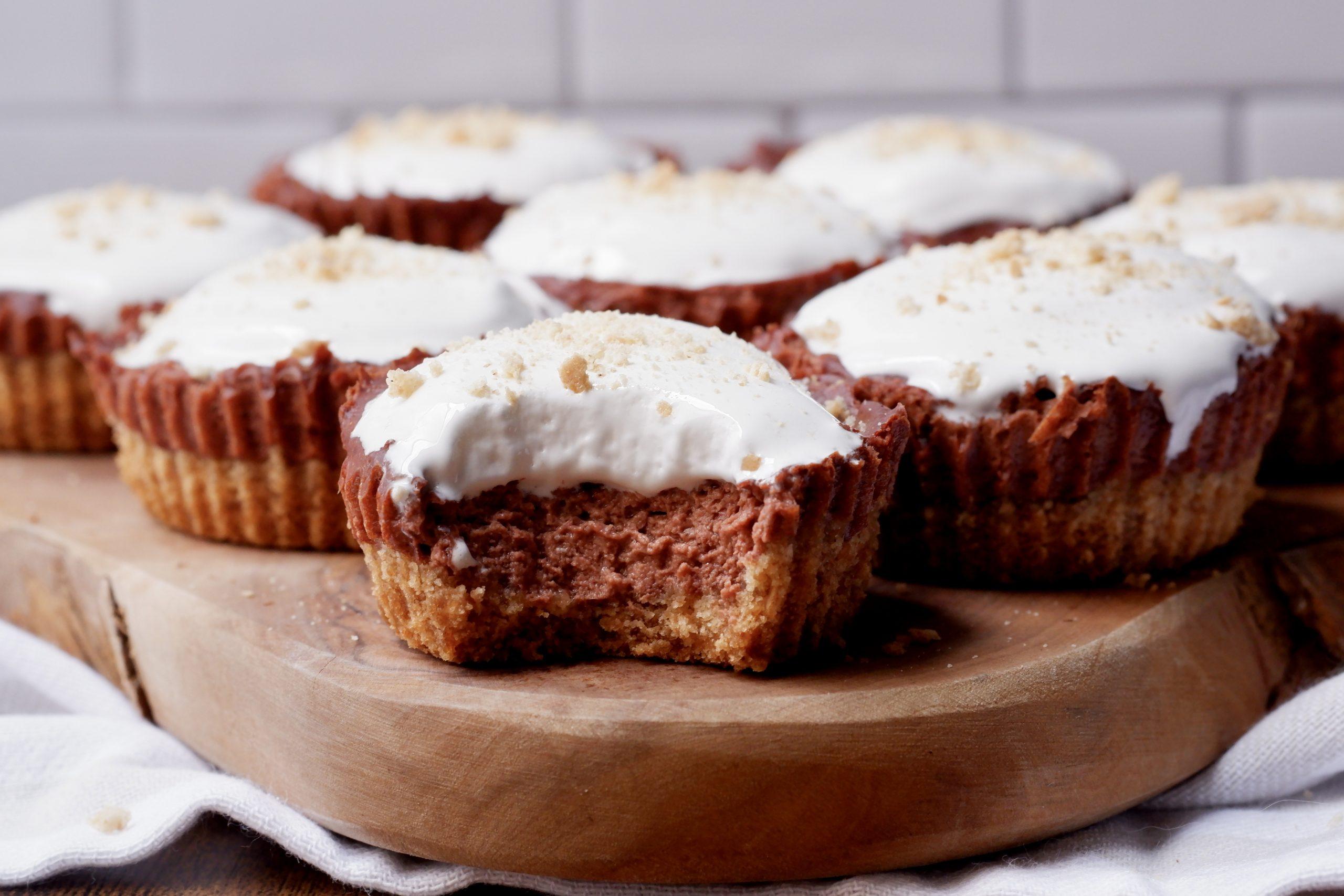 mini smores cheesecakes