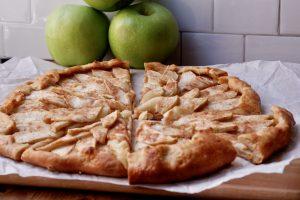 healthy apple galette